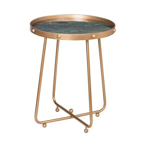 Organic Elements Modern Green Side Table