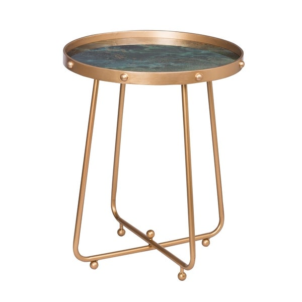 Organic Elements Modern Green Side Table
