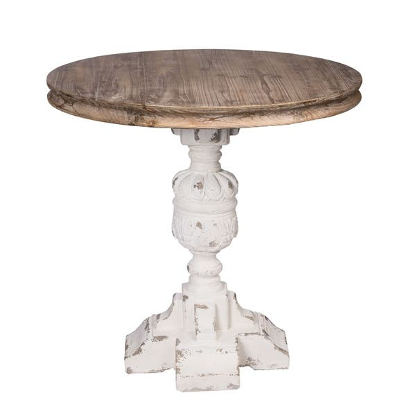 Strange Southern Living Distressed White And Natural Table Dailytribune Chair Design For Home Dailytribuneorg