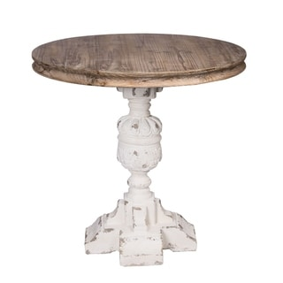 The Gray Barn Derndingle Distressed White and Natural Table