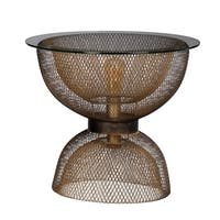 Modern Chic Antique Gold and Black Side Table