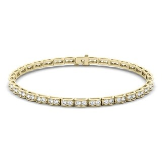 Moissanite by Charles & Colvard 14k Gold 1.9 DEW Tennis Bracelet