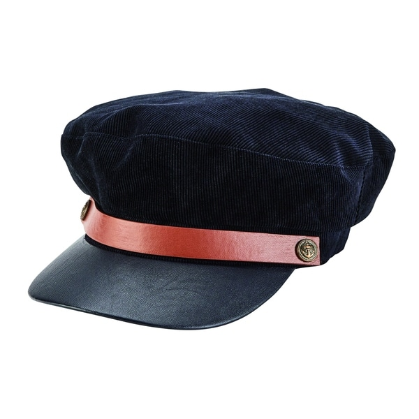 dabf451de Shop Corduroy Fisherman's Cap with Faux Leather Brim by San Diego Hat  Company - Free Shipping On Orders Over $45 - Overstock - 25572612