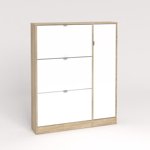 Bright 3 Drawer Shoe Cabinet with Door