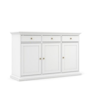 Sonoma White Sideboard with 3-Door and 3-Drawer