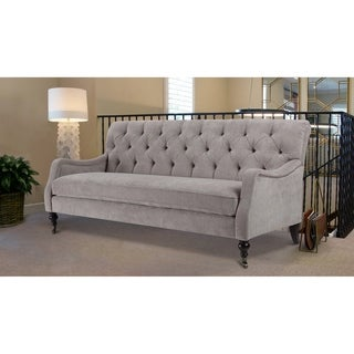 Gracewood Hollow Tyszka Tufted Sofa with Metal Casters
