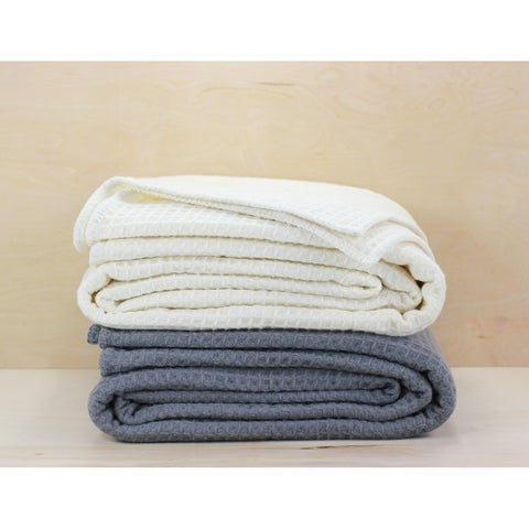 The Gray Barn Tule Wool Waffle Blanket