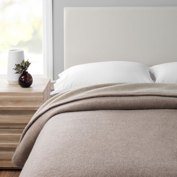 Lambwool Collection 100% Merino Wool Self Hem Blanket