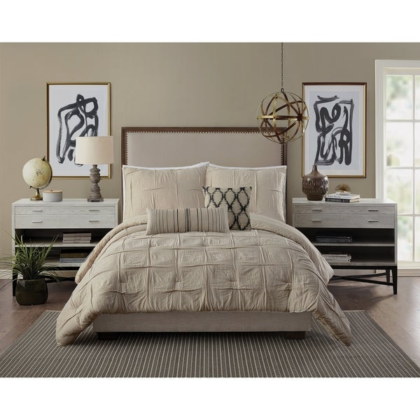 Ayesha Curry Natural Instincts Double Cloth Comforter Set. Opens flyout.