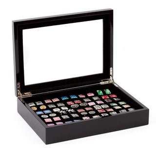 Affordable Black Cufflinks Rings Storage Box Case (Holds 36 pairs)