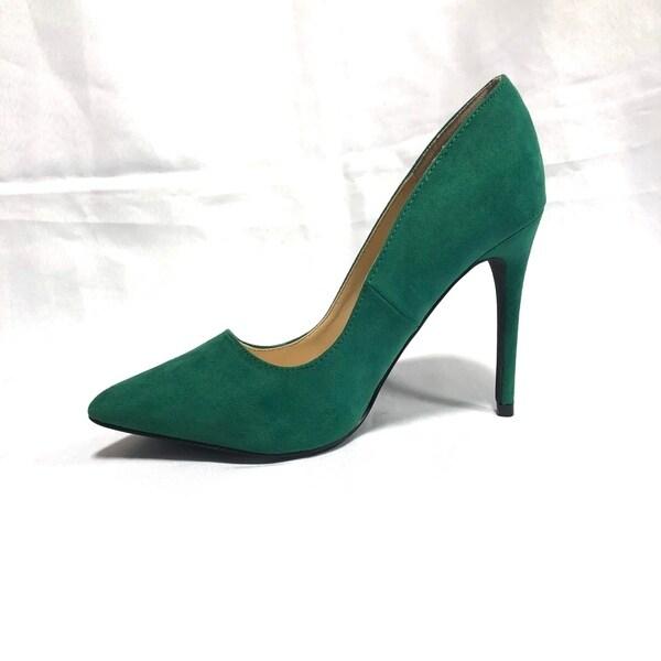 ANNE MICHELLE HIGH Heels Pumps Shoes Dress Womens Sz 9 Black