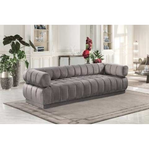 Chic Home Tofino Velvet Vertical Channel-quilted Sofa