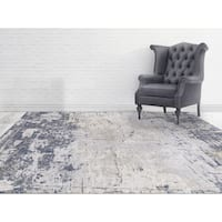 "Aspen Abstract Beige Viscose/ Polyester Area Rug - 7'6"" x 9'6"""