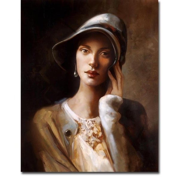 Pearl Earring by Ron Di Scenza Gallery Wrapped Canvas Giclee Art (18 in x 15 in, Ready to Hang)