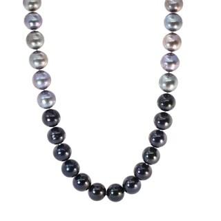 Michael Valitutti Palladium Silver Freshwater Cultured Pearl Ombre Necklace