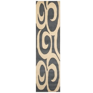 Handmade Tibetan Wool Rug (India) - 2'1 x 8'1