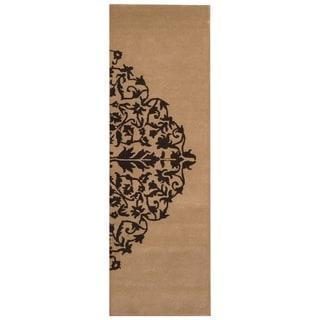 Handmade Tibetan Wool Rug (India) - 2'7 x 8'