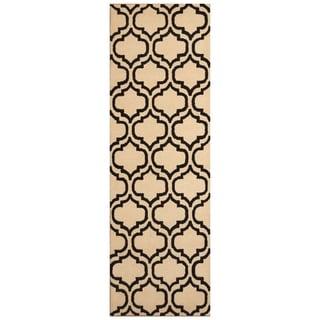 Link to Handmade Trellis Wool Rug (India) - 2'7 x 8' Similar Items in Rugs
