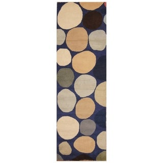 Handmade Tibetan Wool Rug (India) - 2'6 x 8'