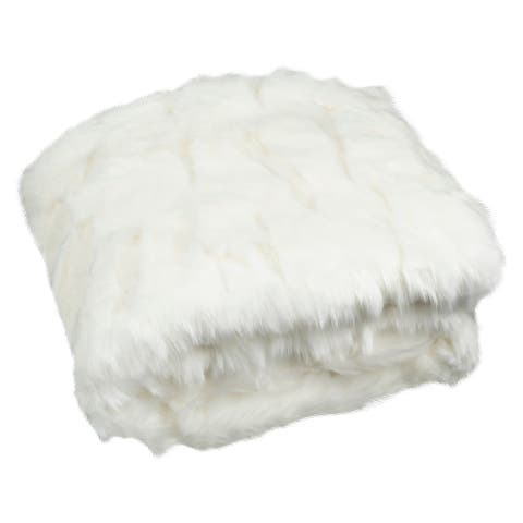 Safavieh Textured Throw -Snow White