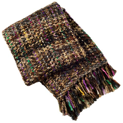 Safavieh Penny Knit Throw -Rosewood