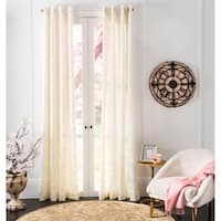"Safavieh Lerapetra Ivory 96 Inch Single Curtain Panel - 52"" w x 96"" l"
