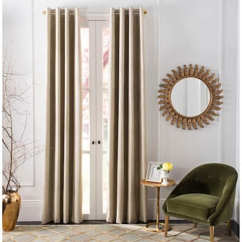 "Safavieh Veria Single Curtain Panel -Beige - 96"" L x 52"" W"
