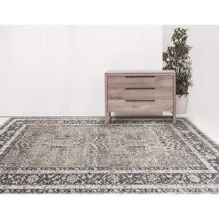 """Rotterdam Classic Sand Chenille/ Poly Area Rug - 3'11"""" x 5'11"""""""