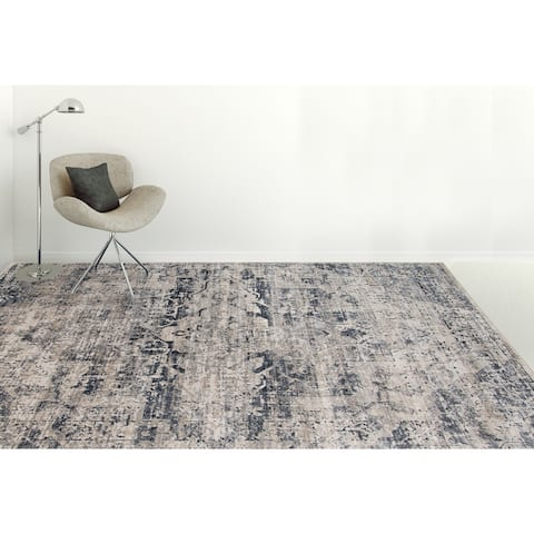 Rotterdam Classic Ivory Chenille/ Poly Area Rug - 3' x 5'/Surplus