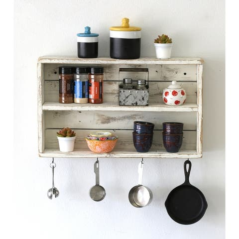 Rustic Double Wall Shelf