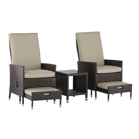 Serta Laguna Outdoor 5-Piece Reclining Set