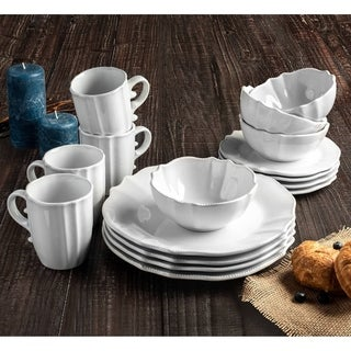 rihanna white 16pc dinner set