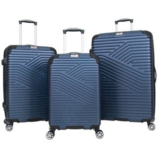 Ben Sherman 'Bangor' 3-Piece Recyclable Hardside PET Expandable 8-Wheel Spinner Luggage Set - 20in/24in/28in Set