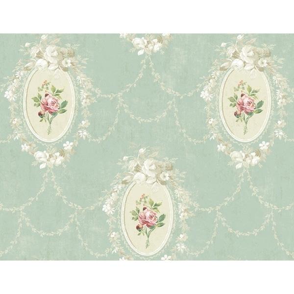 Bouquet Framed Cameo Wallpaper