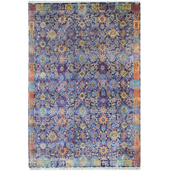 "Handmade Herat Oriental Indo Hand-knotted Khotan Wool Rug (8'2 x 10'2) - 8' x 10'2"""