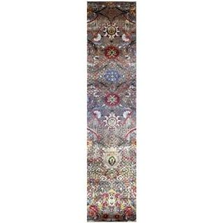 Handmade Khotan Wool Rug (India) - 2'8 x 12'3