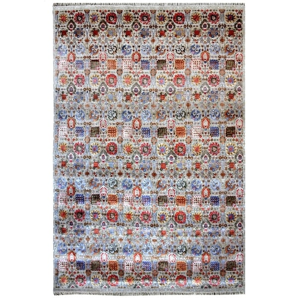 Handmade Khotan Wool Rug (India) - 9' x 12'4