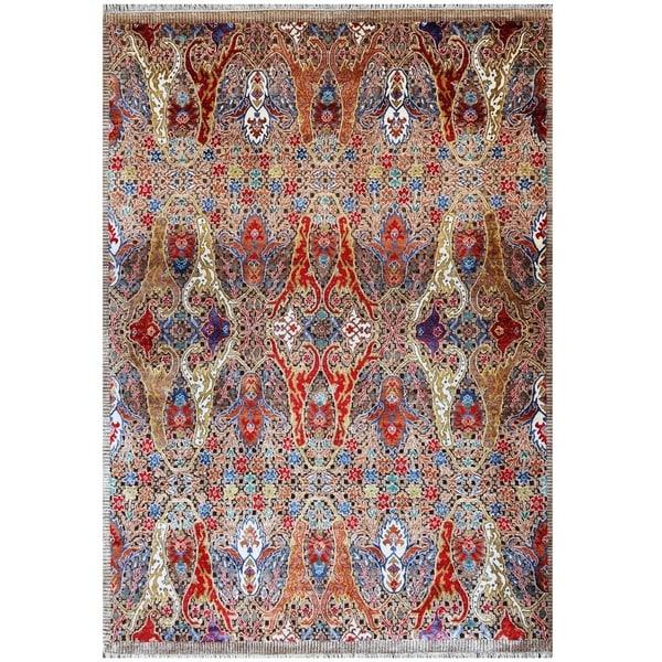 Handmade Khotan Wool Rug (India) - 8' x 9'9