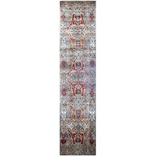 Handmade Khotan Wool Rug (India) - 2'9 x 12'2