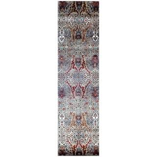 Handmade Khotan Wool Rug (India) - 2'8 x 9'10
