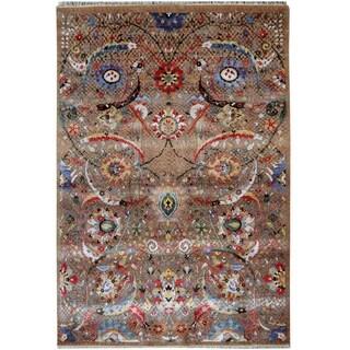 Handmade Herat Oriental Indo Hand-knotted Khotan Wool Rug (8'7 x 12') - 9' x 12'