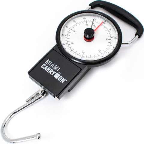 Mechanical Hanging Luggage Scale with a Tape Measure up to 75 Lbs/34KG