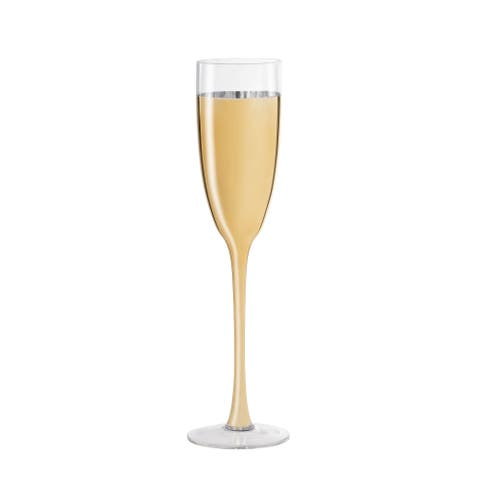 cannes gold s/2 champagne flute