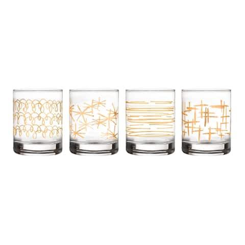 festive set/4 old fashion glasses