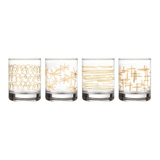 festive set/4 old fashion glasses
