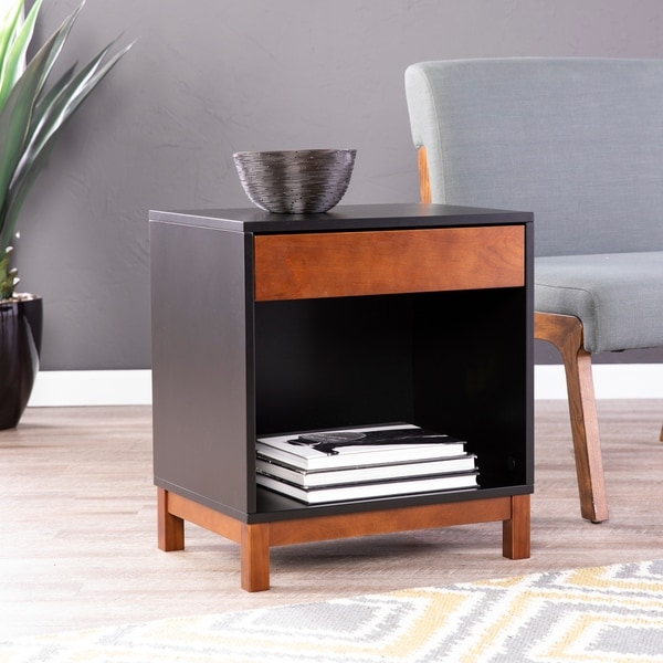 Strick & Bolton Helado Accent Table With Storage by Strick & Bolton