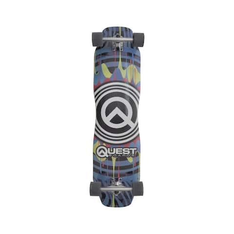 """Q Drips 39"""" Longboard Skateboard"""