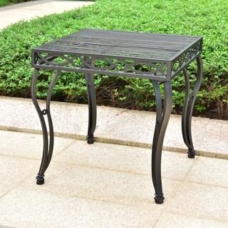 Segovia Iron Outdoor End Table