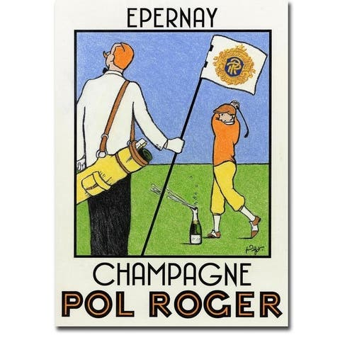 Champagne Practice by Jean-Pierre Got Gallery Wrapped Canvas Giclee Art (32 in x 24 in, Ready to Hang)