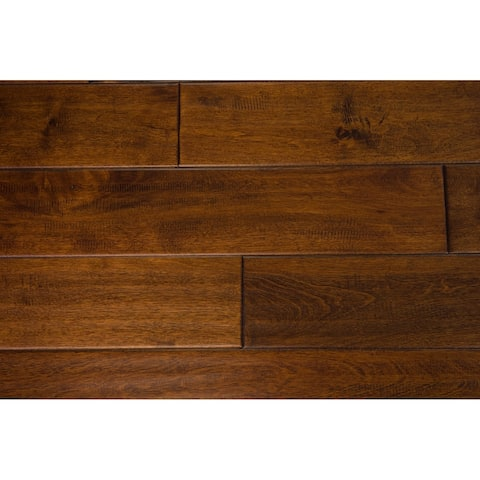 """Mosley Collection Solid Hardwood in Caramel - 3/4"""" x 4-3/4"""" (21.7sqft/case) - 3/4"""" x 4-3/4"""""""